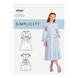 S9040 Misses' Pocket Dress
