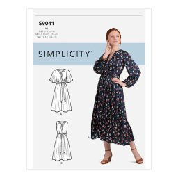 S9041 Misses' Front Tie Dress In Three Lengths