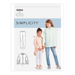 S9054 Children's & Girls' Oversized Tops
