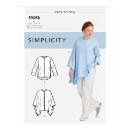 S9058 Misses' Shirt With Drape Variations