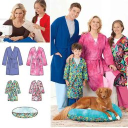S1946 Learn to Sew Child's Teen's & Adults' Robe