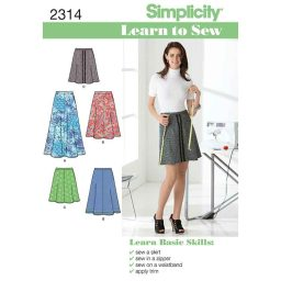 S2314 Learn to sew Women's Skirts