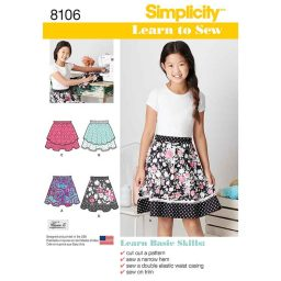 S8106 Learn To Sew Skirts for Girls and Girls Plus