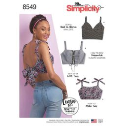 S8549 Women's' Learn to sew Bra Tops
