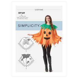 S9169 Misses' Character Poncho Costumes