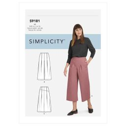 S9181 Misses' Cropped Pants & Skirt