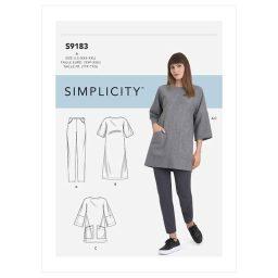 S9183 Misses' Tunic, Top, Dress & Legging