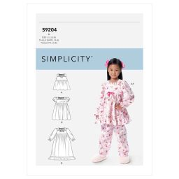 S9204 Children's/Girls' Gathered Tops, Dresses, Gown and Pants