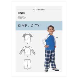 S9205 Children's/Boys' Raglan Sleeve Tops, Shorts and Pants