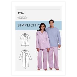 S9207 Misses'/Men's Tops, Nightshirt, Pants and Sweatsuit For Dog