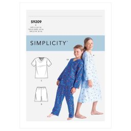 S9209 Boys'/Girls' V-Neck Shirts, Gown, Shorts and Pants