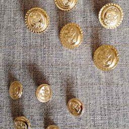 Brass anchor blazer buttons (23mm/15mm)