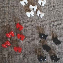 Children's bow buttons (15mm)
