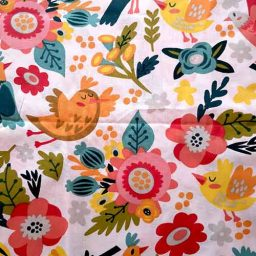 """100% cotton craft fabric """"Birdie Folk"""""""