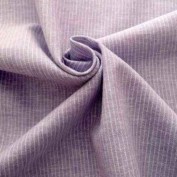 Lilac pinstripe linen mix