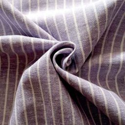 Lilac striped linen-mix