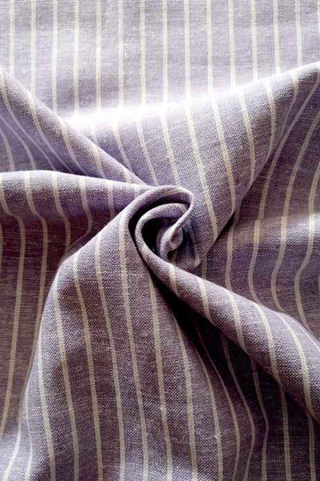 Lilac striped linen-mix