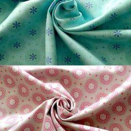 100% organic cotton print (circles)
