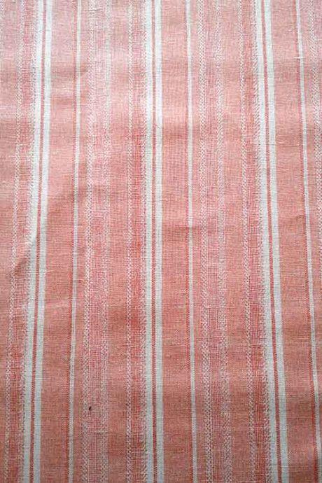 Salmon-striped linen mix
