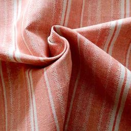 Salmon-striped linen mix