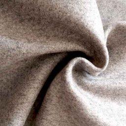 Silver grey wool-blend melton