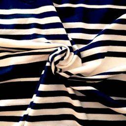 Bold striped viscose jersey (navy/white)