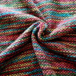 Turquoise/multi varigated striped knit