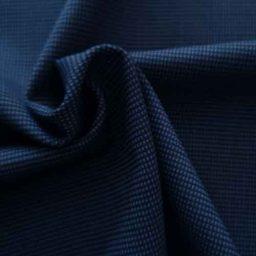 Soft, textured wool-mix suiting (indigo)