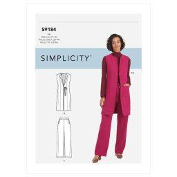S9184 Misses' & Women's Vest & Pants