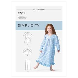 S9216 Children's Robe, Gowns, Top & Pants