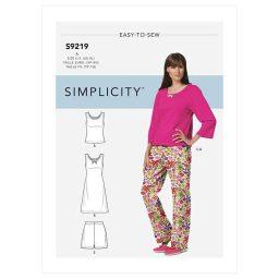 S9219 Misses' & Misses' Petite Sleepwear