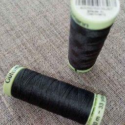 Gutermann Top Stitch thread, Col. 36 (dark grey)