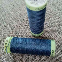 Gutermann Top Stitch thread, Col. 112 (petrol blue)