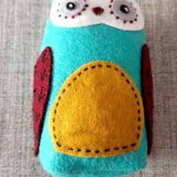 'Hoots', handmade owl pincushion