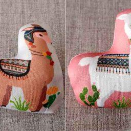 Weighted llama pin cushion (2 designs)