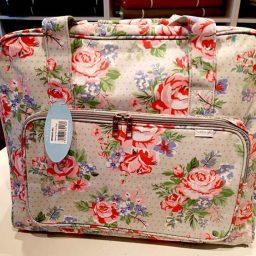 Sewing machine bag (Rose on Grey)