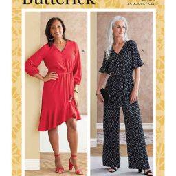 Butterick B6779 Misses' Dress, Jumpsuit & Sash