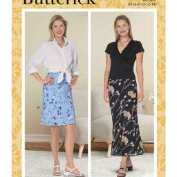 Butterick B6799 Misses' & Misses' Petite Bias A-Line Skirt