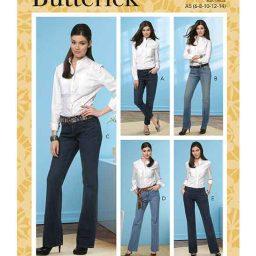 Butterick B6800 Misses' Four-Pocket Jeans & Trousers