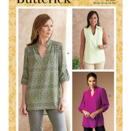 Butterick B6801 Misses' & Women's Tucked Or Gathered Top