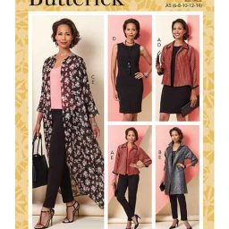 Butterick B6802 Misses' Jacket, Dress & Pants
