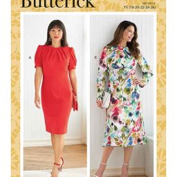 Butterick B6804 Misses' Dress with A/B, C, D Cup Sizes