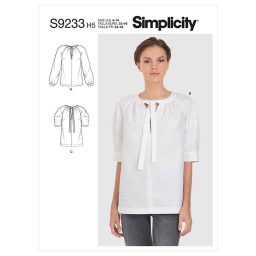 Simplicity Sewing Pattern S9233 Misses' Tops