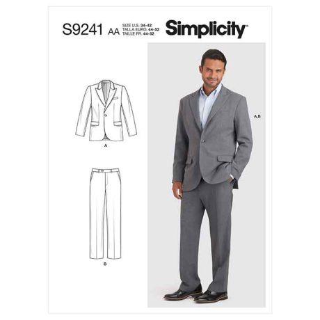 Simplicity Sewing Pattern S9241 Men's Suit