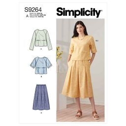 Simplicity Sewing Pattern S9264 Misses' Tops & Pull-on Skirt