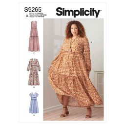 Simplicity Sewing Pattern S9265 Misses' & Women's Tiered Dresses