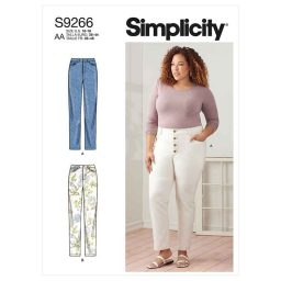 Simplicity Sewing Pattern S9266 Misses' & Women's Vintage Jeans With Front Buttons Or Zipper