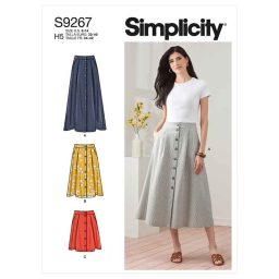 Simplicity Sewing Pattern S9267 Misses' Skirt In Three Lengths