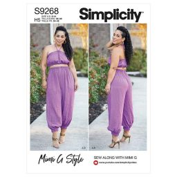 Simplicity Sewing Pattern S9268 Misses' Bra Top & Gathered Pants
