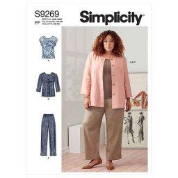 Simplicity Sewing Pattern S9269 Women's Jacket, Knit Top & Pants